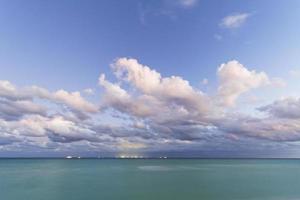 Sunset on the Caribbean beach.