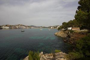 Tree Beach Santa Ponsa Coastline Mallorca Majorca photo