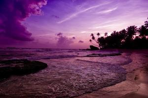 Unawatuna beach at sunset photo