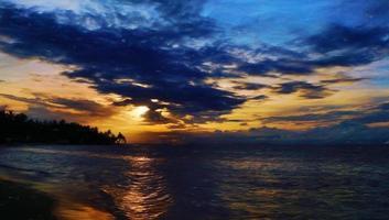 Digital art, paint effect, Sunset, El Portillo Beach, Samana