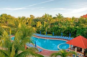 Tropical resort pool photo