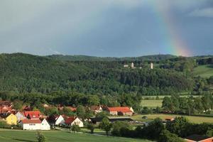 Ruine Brandenburg mit Regenbogen