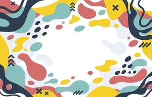 Flat Colorful Abstract Liquid Background vector