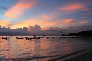 sunset of Koh Tao island photo