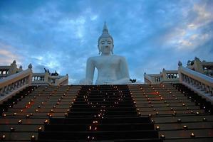 Buddha candle photo
