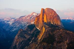 High angle view of half dome in Yosemite national park