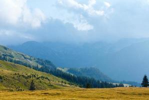 Summer Transalpina road (Carpathians,  Romania). photo