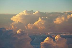 Sky and clouds colorful sunset cloudscape in Himalayan range photo