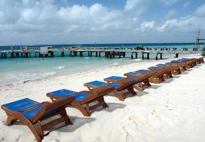 Beach Chairs Isla Mujeres Mexico