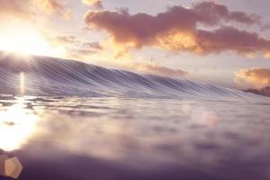 ola de amanecer pastel foto