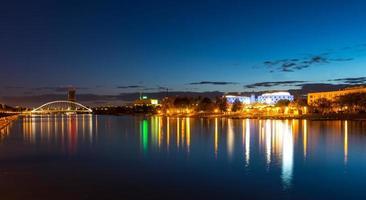 Guadalquivir river in Seville Spain at night