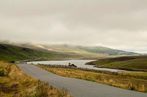 Lonely road in Highlands photo