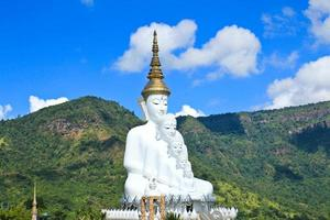 White Buddha Statue at Phasornkaew Temple