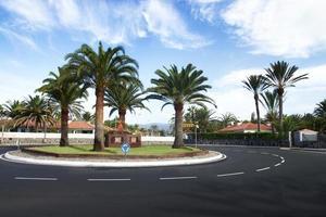 Maspalomas, circular asphalt road. photo