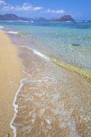 Tropical paradise idyllic beach. photo
