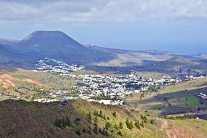 Landscape Lanzarote, Small town Haria photo