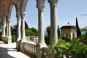 View from the balcony of a hotel in Riviera dei Fiori  photo