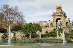 Fountain in Ciutadella park photo