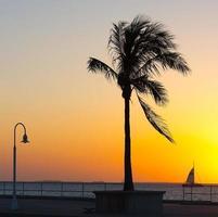 Key West at sunset.