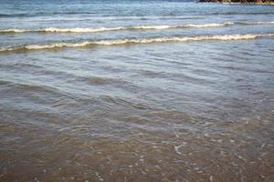 Sunny beach scene photo