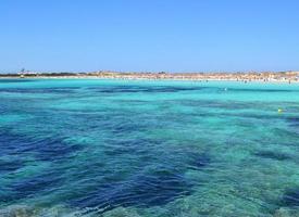 Mediterranean beaches. Formentera's sea photo
