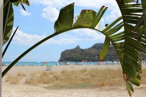 Poetto beach in Cagliari, Sardinia, Italy