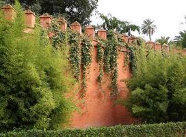 Seville (Sevilla). The Royal Alcazar. Gardens and walls. photo