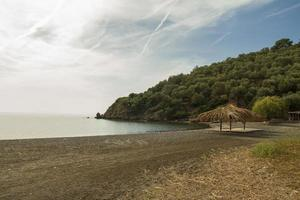 Tranquil beach in Lesvos Island, Greece photo