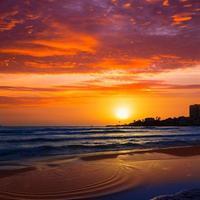 Javea El Arenal beach sunrise Mediterranean Spain photo