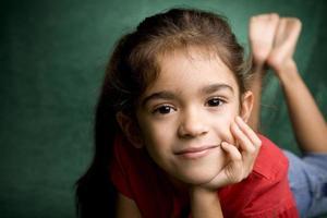 Young Hispanic School Girl