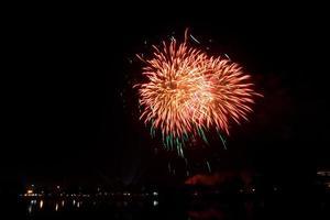 celebración de fuegos artificiales foto