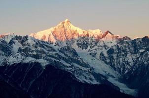 kawagebo mdili xueshang mountain in China photo