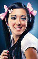 retrato de mujer joven japonesa foto