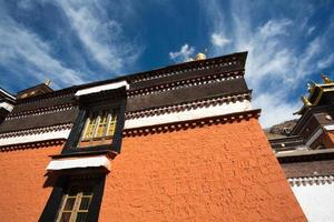 Details of the traditional Tibetan temple photo