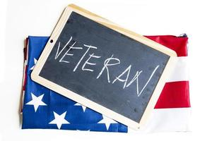 american flag celebrates veterans photo
