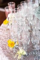 Celebration with champagne glasses photo