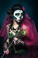 Halloween make-up suiker schedel