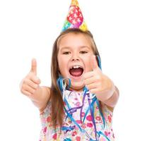 Cute girl celebrate her birthday photo