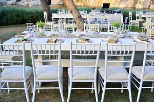 Wedding setup open air celebration