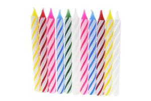 Row of Birthday Candles photo