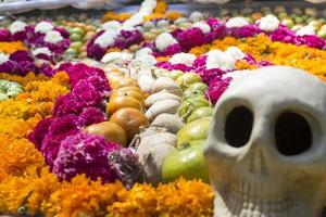 Traditional offering to the dead in mexico
