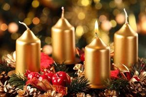 Advent wreath, 1 candle photo