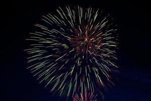 hermosos fuegos artificiales