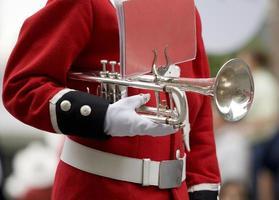 trompeta de la banda de marcha