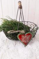 composición decorativa de navidad foto
