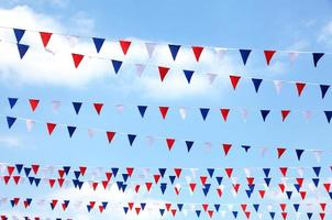 red,white and blue bunting photo
