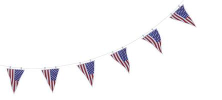 stars and stripes bunting pennants photo