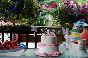pastel de cumpleaños foto