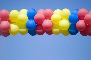carnival multi colored balloons photo