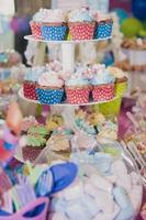Cupcake party table baby shower